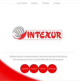 Web Intexur, mantecas de cerdo internacional