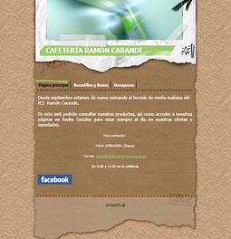 Web Cafetería IES Ramón Carande